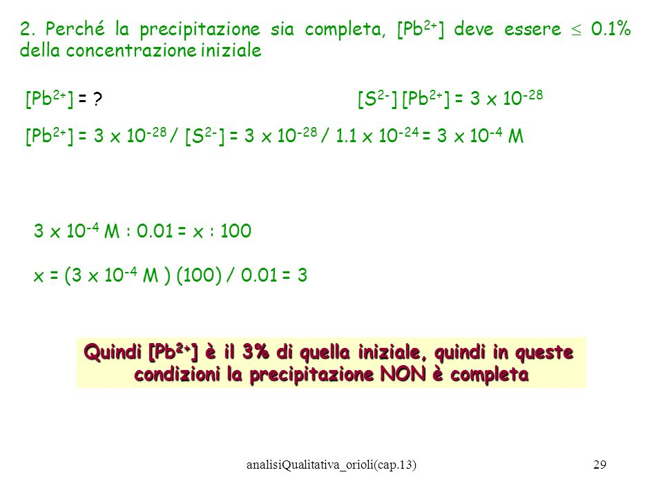 [Pb2+] = 3 x 10-28 / [S2-] = 3 x 10-28 / 1.1 x 10-24 = 3 x 10-4 M